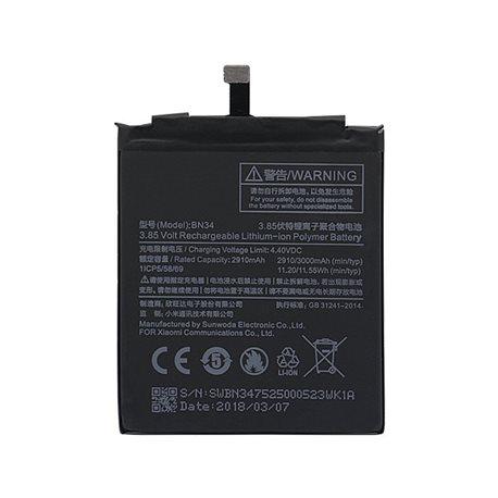 Original Battery XIAOMI BN34 for Xiaomi Redmi 5A