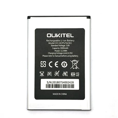 New Battery for OUKITEL C8 Smartphone - Fast Shipping from EUROPE