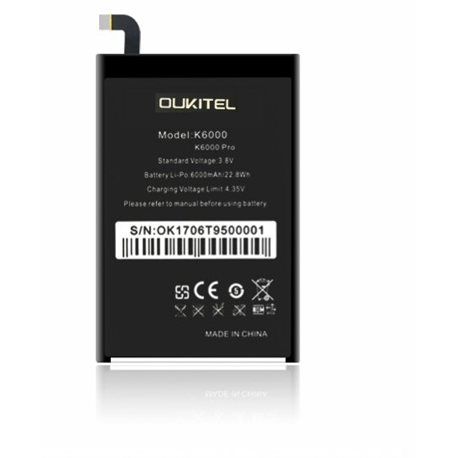 New battery for OUKITEL K6000/K6000 PRO - Fast Shipping from Europe