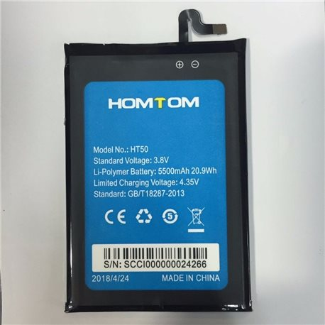 New Battery for HOMTOM HT50 Smartphone - Fast Shipping from Europe