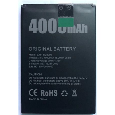 New Battery for DOOGEE X70 Smartphone - Fast Shipping from EUROPE