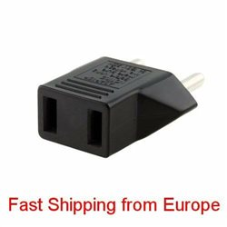 2PCS US to EU AC Power Plug Converter Travel Adapter Charger - Fast Shipping