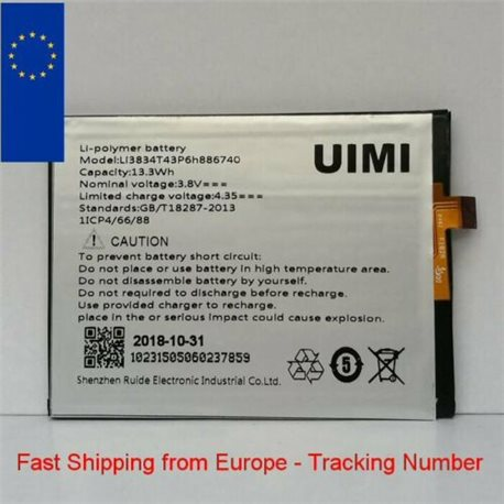 New Battery for UMI EMAX Li3834T43P6h886740 - Fast Shipping from Europe