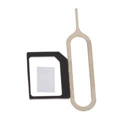 Nano To Micro SIM Card Adapter + Eject Pin Key For Mobile Phone