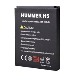 Original 2400mAh Battery For HUMMER H5 Smartphone