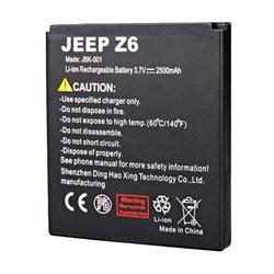 Original 2500mAh Battery For JEEP Z6 Smartphone