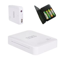 4 X AA USB Portable Battery Emergency Charger For Mobile Phone