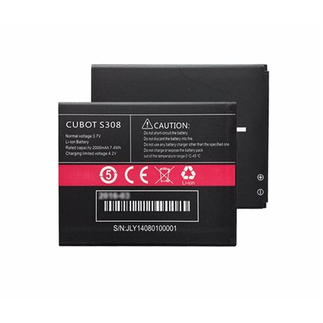 Original Cubot S308 2000mAh Battery Replacement