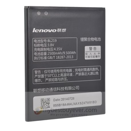 Original 2500mAh Replacement Battery For Lenovo S856