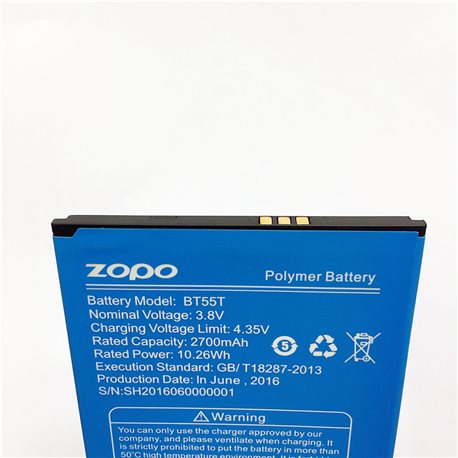Original 2700mAh Battery BT55T For ZOPO ZP999