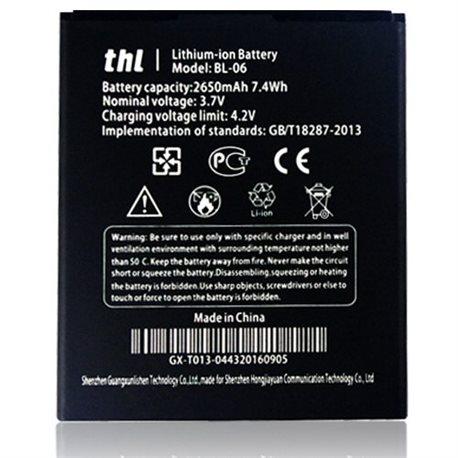 Original Thl T6 T6S T6 pro 2650mAh BL-06 BL06 Battery Batteria