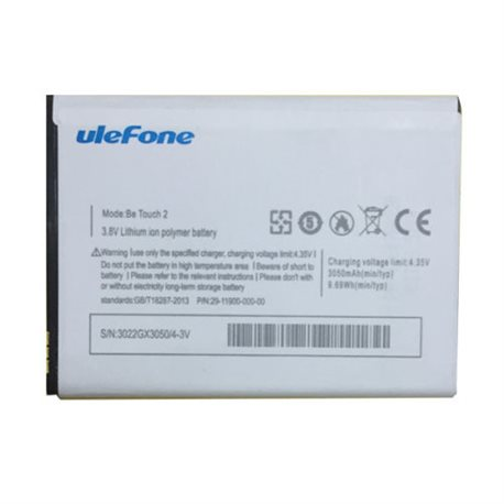 Original Ulefone Be touch 2 Battery 3050mAh